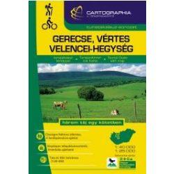 Gerecse turistakalauz , Vértes és Velencei-hegység turistakalauz Cartographia 2016 1:40 000, 1:25 000