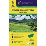 Zempléni-hegység északi rész turistatérkép 22. Cartographia 2018  1:40 000