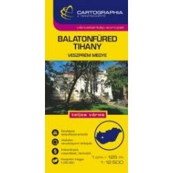 Balatonfüred térkép, Tihany várostérkép, Tihanyi-félsziget  Cartographia