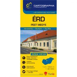 Érd várostérkép, Pest megye térkép Cartographia 1:20 000 1: 1:200 000   2012