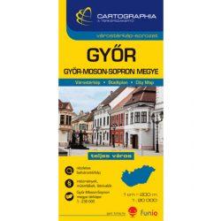 Győr térkép Cartographia 1:20 000
