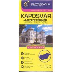 Kaposvár várostérkép és Somogy megye térkép Cartographia 1:17 000
