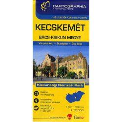 Kecskemét várostérkép és Bács-Kiskun megye térkép Cartographia 1:15 000