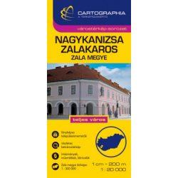 Nagykanizsa, Zalakaros várostérkép és Zala megye térkép Cartographia  1:20 000