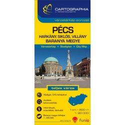 Pécs térkép Cartographia 2014 1:20 000