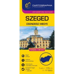 Szeged várostérkép és Csongrád megye térkép 2014 Cartographia 1:17 500 1:200 000