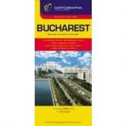 Bukarest térkép Cartographia 1:26 000