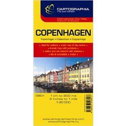 Koppenhága térkép Cartographia 1:20 000