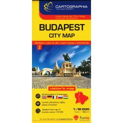 Budapest térkép belváros, Budapest City map 1:16e. Cartographia 2016