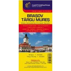 Brassó térkép, Marosvásárhely térkép Cartographia 1:15 000