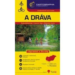 Dráva térkép, A Dráva Légrádtól a Dunáig 1:75 000  Cartographia 2015