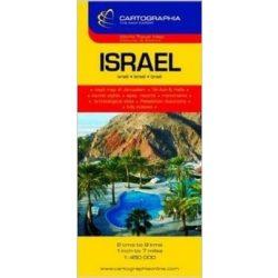 Izrael térkép Cartographia 1:450 000