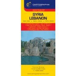 Szíria, Libanon térkép  Cartographia 1:1 000 000    2011