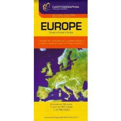 Európa autótérkép, Európa térkép Cartographia