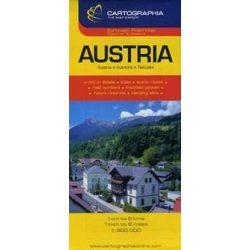 Ausztria térkép Cartographia  1:500 000  Ausztria autótérkép