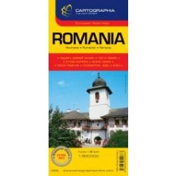 Románia térkép Cartographia 1:800 000  2015