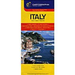 Olaszország térkép, Olaszország  autótérkép  Cartographia 2015