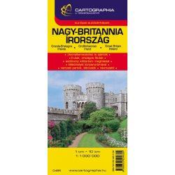 Nagy-Britannia térkép Cartographia 1:1 000 000