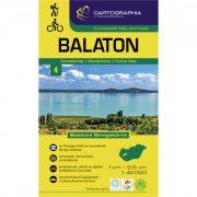 Balaton turistatérkép Cartographia 1:40 000 Balaton térkép 2017