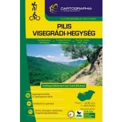 Pilis és Visegrádi-hegység turistakalauz  Cartographia 2018 1:40 000, Pilis térkép