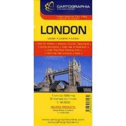 London térkép Cartographia 1:12 500