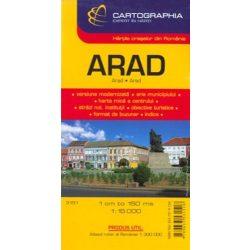 Arad térkép Cartographia 1:15 000