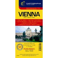 Bécs térkép Cartographia 1:17 000