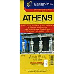 Athén térkép Cartographia 1:12 000