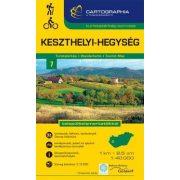 Keszthelyi-hegység turistatérkép Cartographia 1:40 000   2017