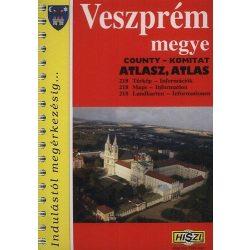 Veszprém megye atlasz HiSzi Map