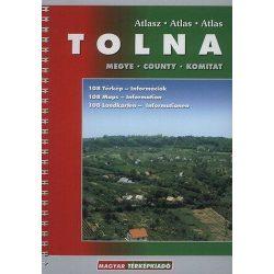 Tolna megye atlasz HiSzi Map