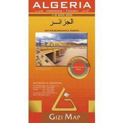 Algéria térkép, Tunézia térkép, Marokkó térkép Gizi Map 1:2 500 000  2010