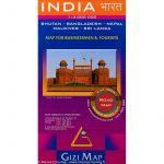 India térkép autós Gizi Map 1:3 000 000