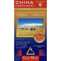 Kína, Dél-Kína térkép 1. Gizi Map 1:2 000 000
