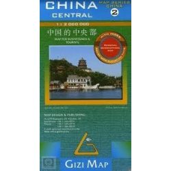 Kína, Közép-Kína térkép 2. Gizi Map 1:2 000 000
