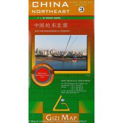 Észak-Kelet-Kína térkép 3. Gizi Map 1:2 000 000