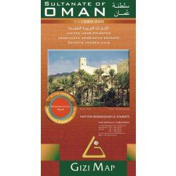 Oman térkép Gizi Map 1:1 250 000