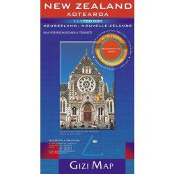 Új Zéland, New Zealand térkép Gizi Map 1:1 700 000