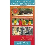 Vietnam, Laos, Cambodia térkép Gizi Map  1:1 400 000