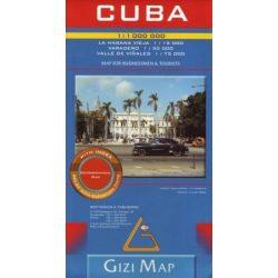 Cuba, Kuba térkép Gizi Map 1:1 000 000 2009