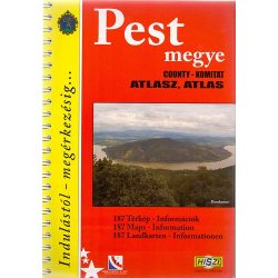Pest megye atlasz HiSzi Map