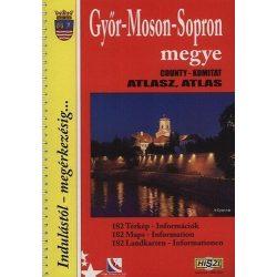 Győr-Moson-Sopron megye atlasz HiSzi Map