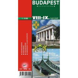 Budapest VIII.-IX. Kerület térkép Topopress 1:9 500 VIII. kerület térkép