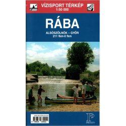 Rába térkép 1:50 000 Rába vízitúra térkép Paulus -  Alsószölnök-Győr