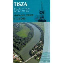 Tisza vízitérkép Tiszabecs - Tokaj térkép Paulus 1:35 000   2016