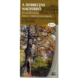 Debrecen turistatérkép, A debreceni nagyerdő és környéke térkép, Zöld Kör Debrecen térkép 1:30 000  2019