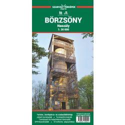 Börzsöny térkép, Naszály, Börzsöny hegység turista térkép Szarvas 2019 1:30 000