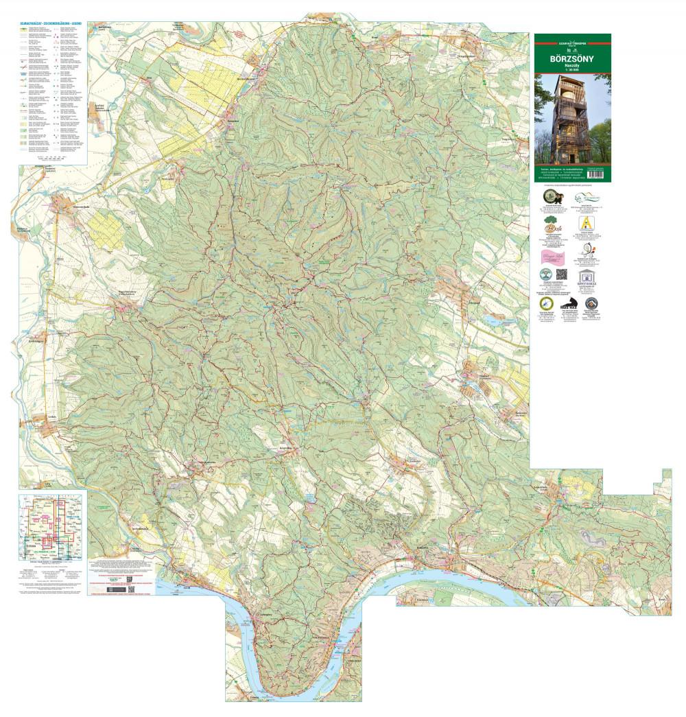 börzsöny térkép Börzsöny térkép, Naszály, Börzsöny hegység turista térkép Szarvas