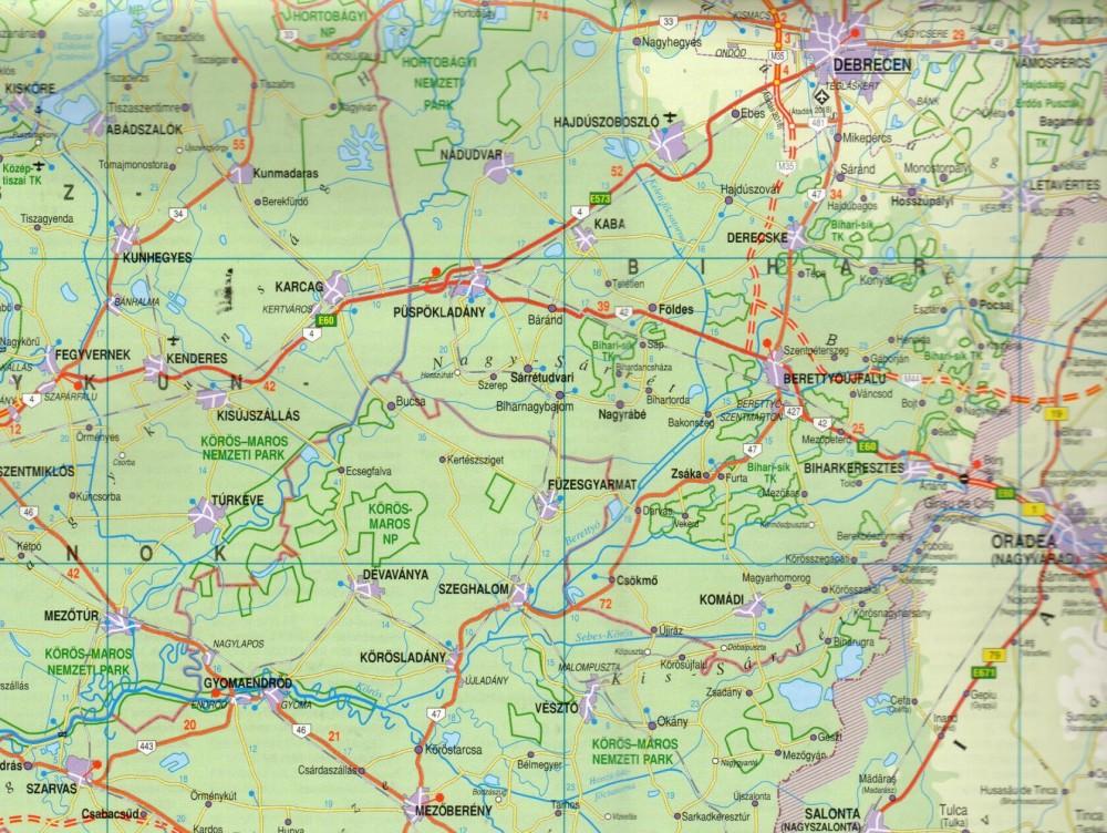 magyarország térkép berekfürdő Magyarország térkép, Magyarország autótérkép Nyír Karta 2017 18 1  magyarország térkép berekfürdő