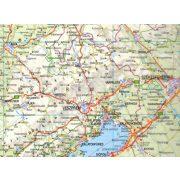 Magyarország térkép, Magyarország autótérkép Nyír-Karta 2017-18 1:540 000